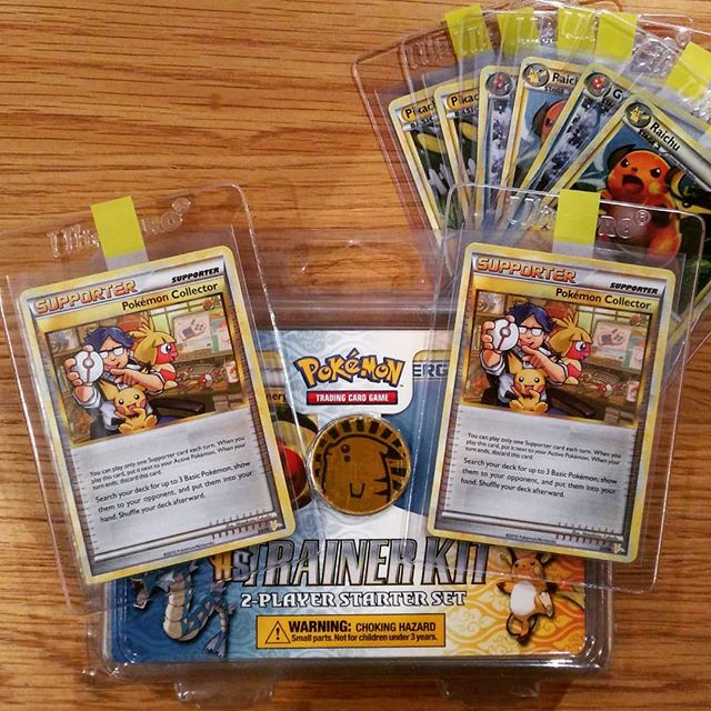 My English HS Trainer Kit with Raichu Half Deck Pokémon Collector cars (picture from my Instagram feed).