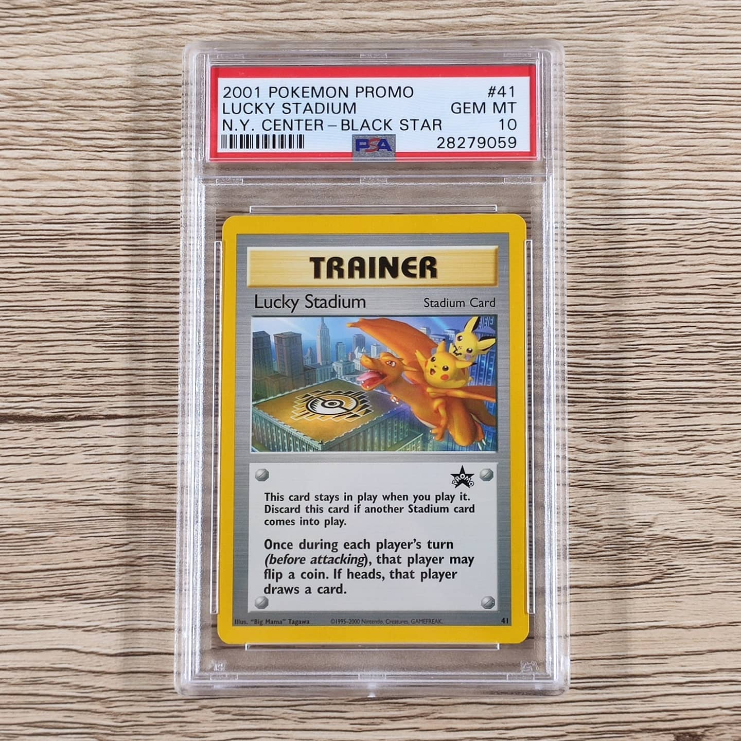 My PSA 10 grade Lucky Stadium (picture from my Instagram feed).