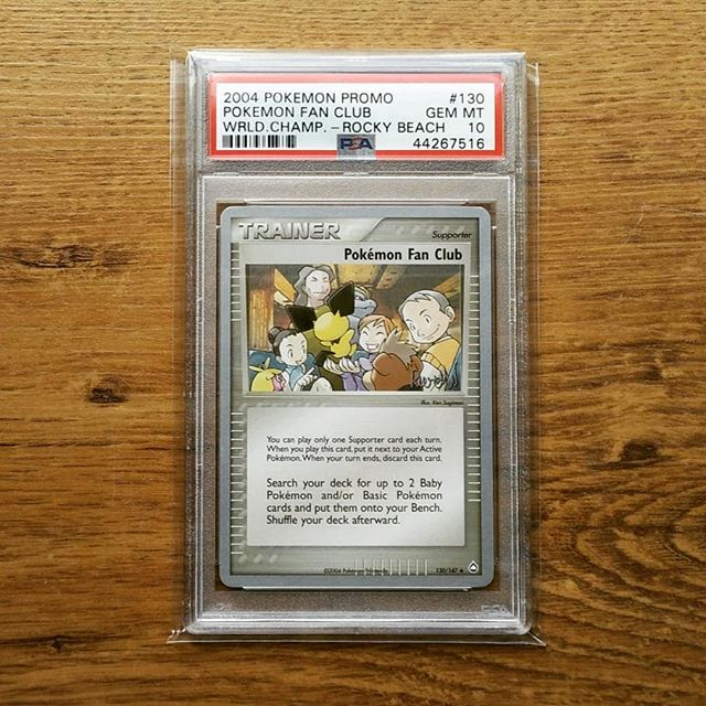 My PSA 10 2004 World Championship deck Pokémon Fan Club (picture from my Instagram feed).